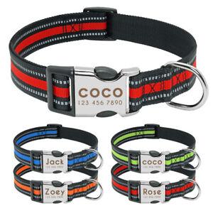 Collar-para-perro-suave-Personalizable-Collar-grabado-para-perro-Reflectante-S-L