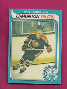 1979-80-OPC-387-OILERS-DAVE-HUNTER-VG-ROOKIE-CARD-INV-A5976