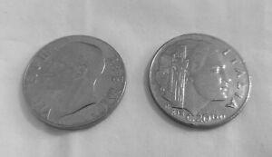 Moneta-20-cent-1941-magnetica-V-Emanuele-III-Impero-Regno-d-039-Italia-SPL
