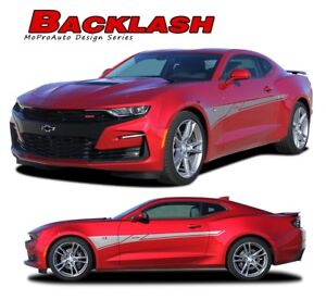 Chevy Camaro 2016 2017 ZL1 SS RS Side Retro Style Stripe Graphics Style 1