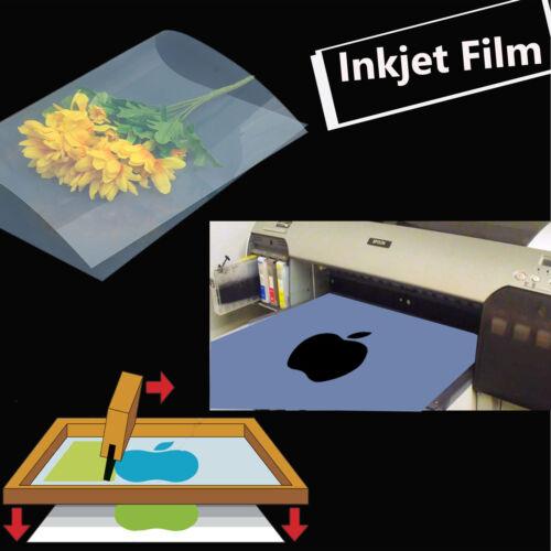 "13/"" x 18/"",50 sheets,Silk Screen Printing Transparency Waterproof  Inkjet  Film"