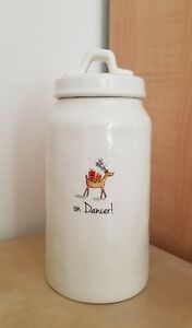 NEW RAE DUNN by MAGENTA CHRISTMAS Reindeer Dancer! Cookie Jar Canister HomeDecor