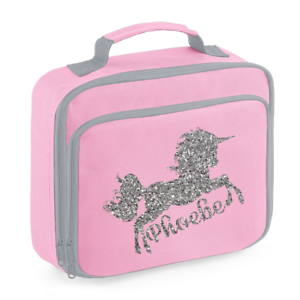 Image Is Loading Personalised Name Unicorn Lunch Box Bag Back To