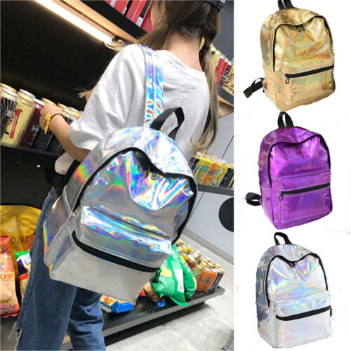 Damen Mädchen Rucksack Hologramm Schulrucksack Schulter Tasche Reisetasche 2019