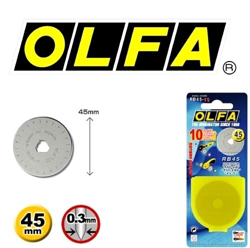 OLFA 45mm Rotary Cutter Spare Blade RB45-10 10 Blades