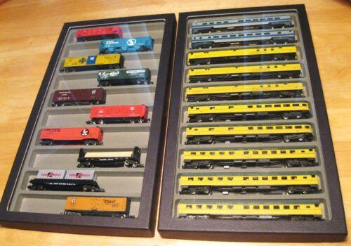 (3) N scale Passenger Car train Cases storage display keep em nice!