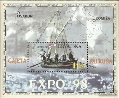 Hearty Croacia Bloque 14 Usado 1998 Expo´ 88 To Adopt Advanced Technology edición Completa