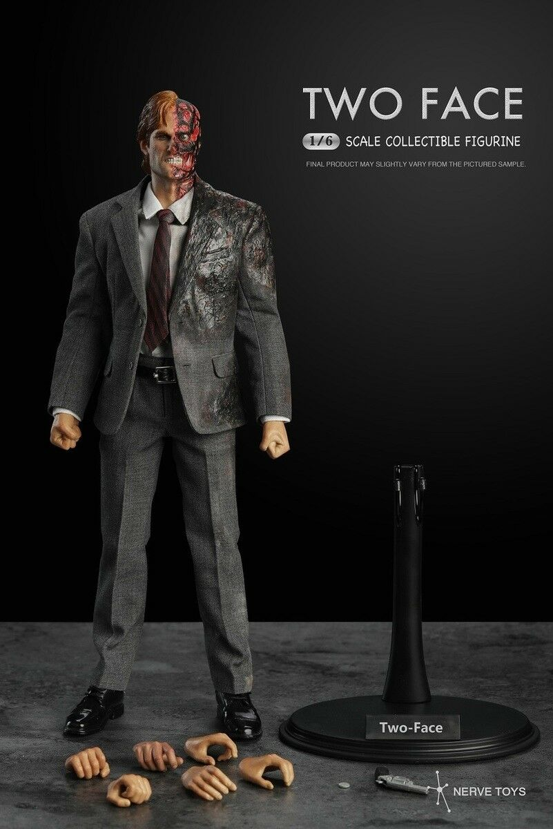 1 6 Nerve Toys NT-001 The Dark Knight Two Face Harvy Dant Action Figure