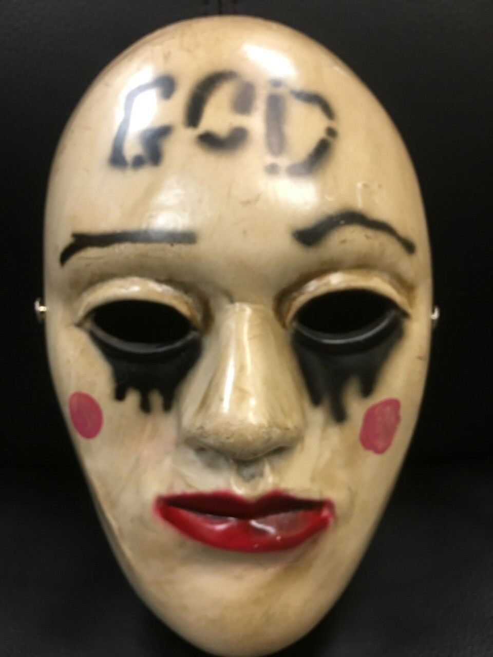 THE PURGE GOD FIBREGLASS MASK ADULT MOVIE FANCY DRESS UP ANARCHY ELECTION YEAR 2