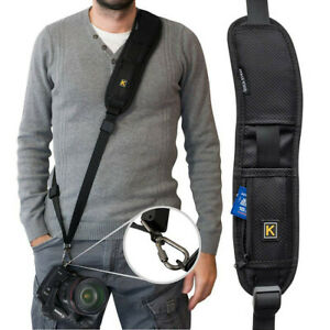 Quick-Rapid-Single-Shoulder-Sling-Black-Belt-Strap-for-Digital-SLR-DSLR-Camera