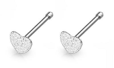 316L Surgical Steel Nose Bone Stud Ring with Gold Sandbast Finish Heart Top