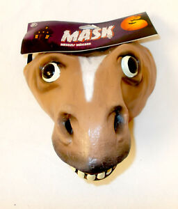 Caretas Rev Brown Donkey Horse Pony Costume Mask Adult OSFM NIP
