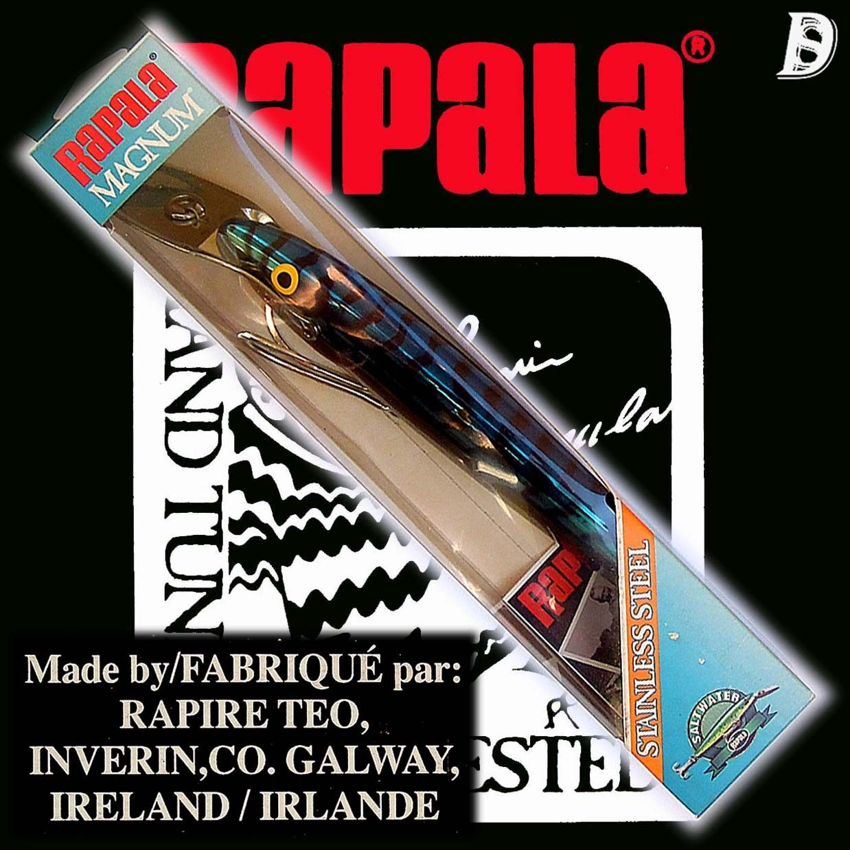 Vintage Rapala Magnum Countdown 22cm Stainless Steel BM NEU&OVP extrem selten