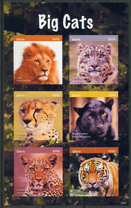 Agressif Liberia 2018 Neuf Sans Charnière Gros Chats Lions Tigres Léopards 6 V S/a M/s Animaux Sauvages Timbres-afficher Le Titre D'origine Techniques Modernes