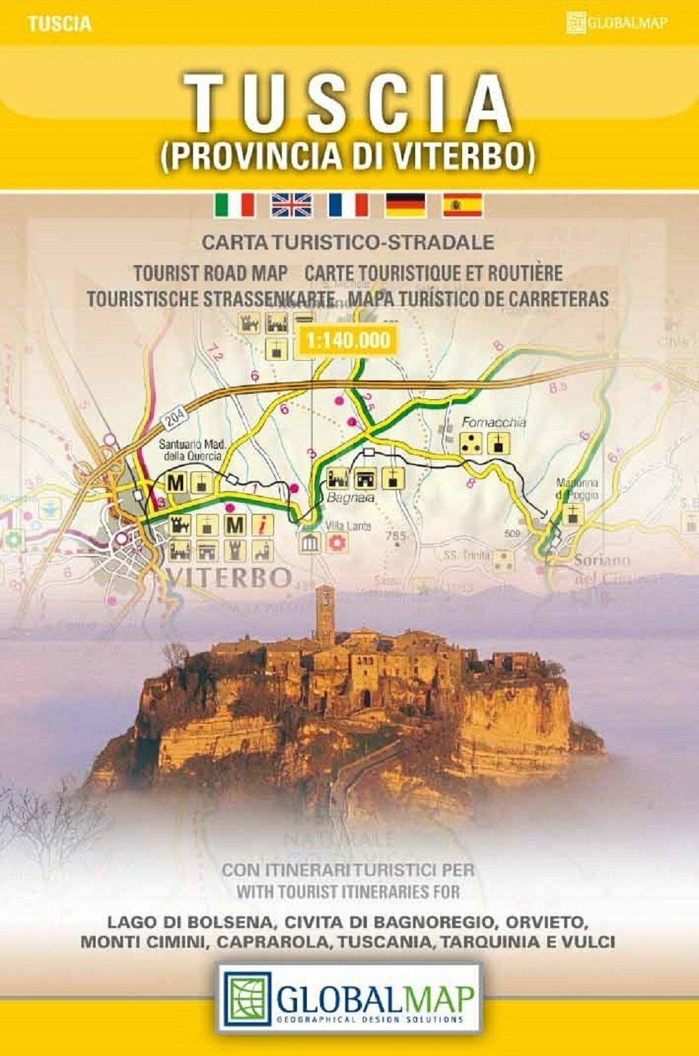 Cartina Geografica Di Viterbo E Provincia.Tuscia Prov Di Viterbo Carta Turistico Stradale Cartina Mappa Global Map Ebay