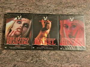 3-NEW-Redemption-Horror-DVDs-Living-Dead-Girl-Reincarnation-Hunted-RARE-OOP