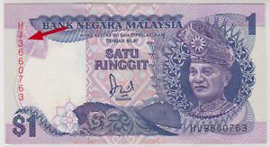 Mazuma *M907 Malaysia 6th $1 HJ3660763 Last Prefix AUNC