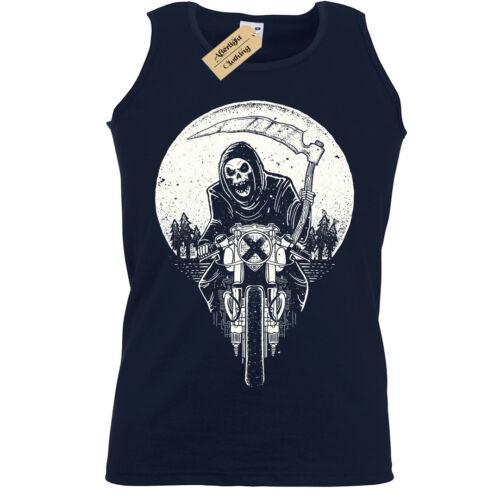 Grim Racer Tank Top Homme Motard Gilet metal rock goth Reaper Moto mort