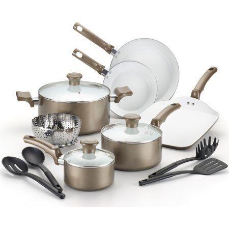 T-Fal Celebrate Ceramic 14-Piece Cookware Set W