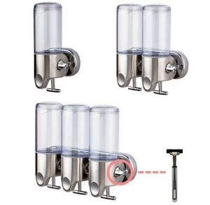 Image Is Loading NEW WALL MOUNTED SOAP DISPENSER TOILET SHOWER GEL