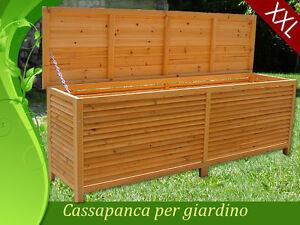 Box Cassapanca Baule Legno Esterno Giardino Interno Acciaio INOX XXL ...