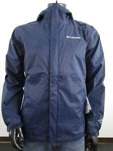 Mens-Columbia-1X-2X-3X-4X-Timber-Pointe-Waterproof-Hooded-Rain-Jacket-Navy