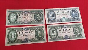 Hungria-Lote-de-4-Billetes-Antiguo-para-Ordenar-REF53167