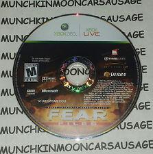 FEAR F.E.A.R Files NTSC DISC ONLY PAL Microsoft XBox 360 2007 Works On PAL