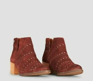 ROXY-LEXIE-SUEDE-WOMEN-ANKLE-BOOT-SPICE-RED-SIZE-UK-3-EUR-36