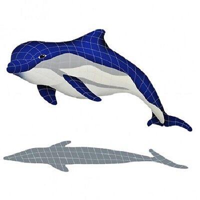 mosaic bottlenose dolphin upper tile swimming pool patio