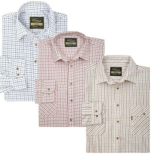 100/% Cotton Shooting Clay Pigeon Quality Tattershall Shirts by Champion