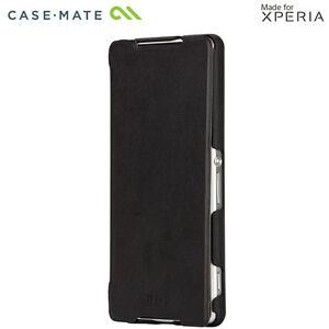 Case-Mate-Noir-Etui-Rabattable-pour-Sony-Xperia-Z2-Etui-Fin-Rabattable