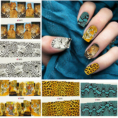 Chic Water Transfer Nail Full Wrap Decal Nail Art DIY Decoration Stickers Tips