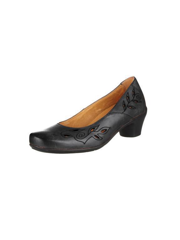 Zapatos zapatos señora zapato bajo pumps negro de W cuero Theresia m. (40,5) W de H a84519