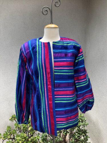 Vintage Boho Mexican Jacket Tachi Castillo Pin Tuc