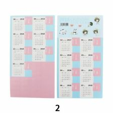 4 sheet 2018 monthly calendar index tabs stickers 15 tab book notes