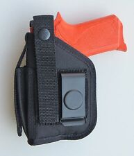 Hip Holster for Remington R51 pistol with Underbarrel Laser mounted on gun