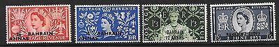 Bahrain Sg90/3 1953 Coronation Mtd Mint Middle East