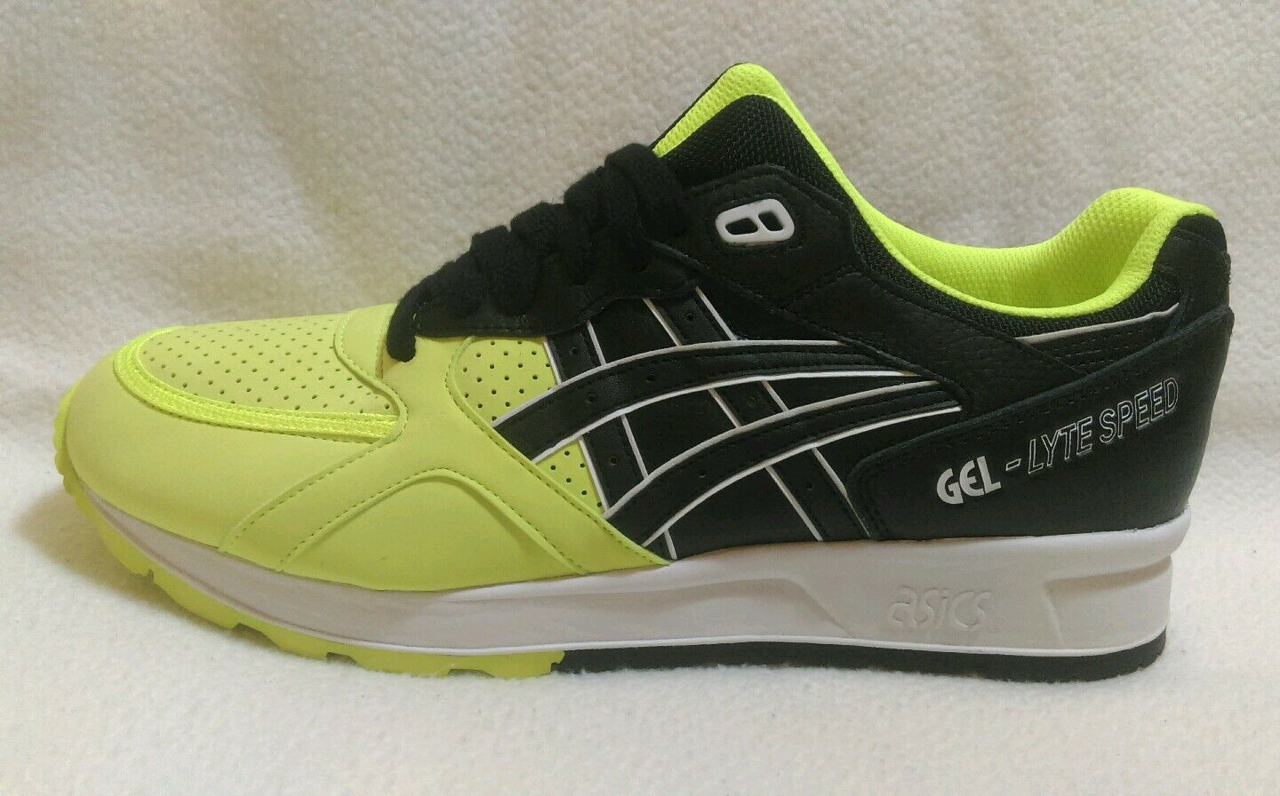 ASICS GEL - LYTE SPEED  SAFETY YELLOW / BLACK  SPEED Herren SIZE 8 SHOE ATHLETIC 398cc3