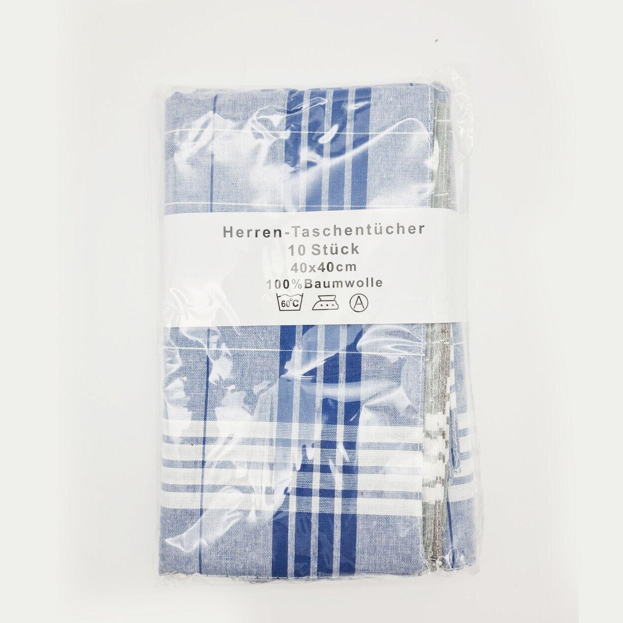 10 Pack Mens Handkerchiefs 40x40 cm 100% Tree SHAFT WORK HANDKERCHIEFS