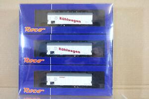 Roco-66041-Dr-DRG-Kuhlwagen-Refrigerador-Set-de-Vagones-Berlin-Episodios-II-Mint