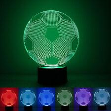 Colorful Soccer Ball Light Football 3D Visual LED Night Lights USB Table Lamps