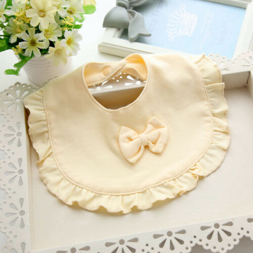 Baby Bibs Burp 100/% Cotton Lace Bow Bib Baby Cute Bib Infant Saliva Towels
