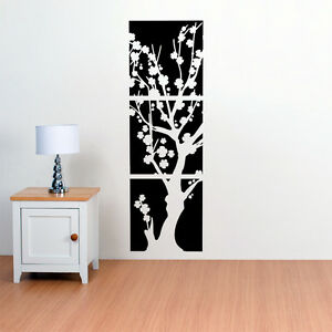 ASIAN JAPANESE CHERRY BLOSSOMS FLOWER TREE VINYL WALL DECAL - Vinyl wall decals asian