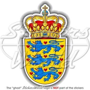 DENMARK-Danish-Coat-of-Arms-National-Emblem-Vinyl-Bumper-Sticker-Decal