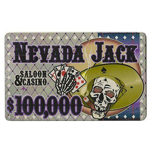 $100,000 5-pack Nevada Jack 40g High-Roller Ceramic Poker Plaques