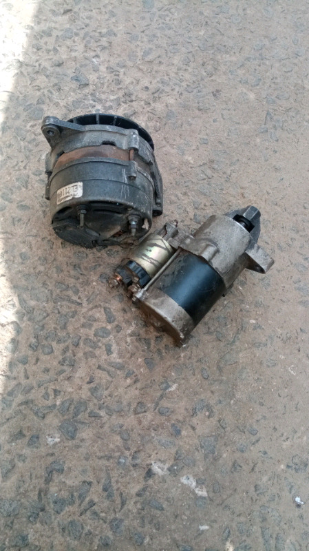 Nissan 1400 alternator and starter in excellent condition R750 both