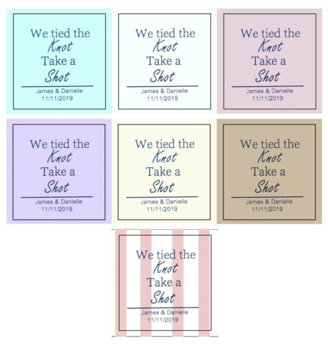 30 PERSONALISED TAKE A SHOT MINI BOTTLE LABELS WEDDING FAVOURS BIRTHDAY ALCOHOL