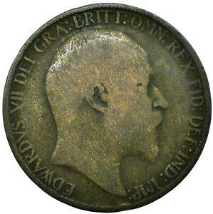 1902-1910 Half Penny Coin-Edward VII. CHOISISSEZ VOTRE DATE! une pièce/achat!