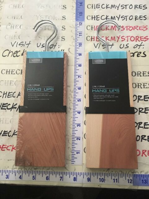 2X2PK American Cedar Wood Hang Ups Naturally Protects From Moths Wool Storage
